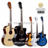 Chinese manufactory 39 inch colorful acoustic guitar for starter CARAVAN MUSIC HS3910