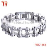 New Men's 316L Stainless Steel Motorcycle bicycle Chain biker Bracelet Bangle 13mm 8.5''