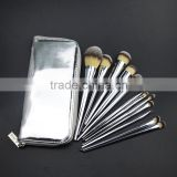 12pcs metal handle bling bold color silver personalized cosmetics makeup brush set