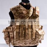 Military use desert Camouflage bullet proof vest molle wholesale bullet proof vest