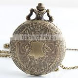 Wholesale China Antique Vintage Bronze Tone Quartz Pocket Chain Pendant Watch Necklace Gift