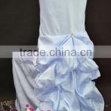 Baby blue/round back/banquet chair cover for sale