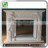 Natural White Fireplace Mantel Stone