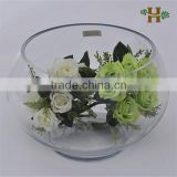 Large clear glass vase for decoration, handmade wholesale glass fish bowl