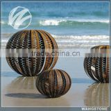 Beach Hollow Corten Steel Sphere Sculpture for Ourdoor Decoration
