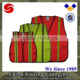 Orange Yellow Red Polyester fabric Safety vests Police Safety reflective vest