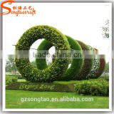 songtao factory plastic grass artificial topiary plant topiary frame garden statue molds