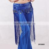 Tribal professional sequin tassel hip scarf with coins belly dance paillettes hip belt with fringe