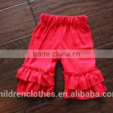 Wholesale Summer Baby Clothes Solid Color Cake Ruffle Shorts Fashion Cute Icing Boutique Shorts