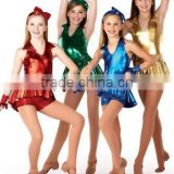 New coming jazz shiny colorful dance costume --cool girl jazz style dress colorful ---child&adults unique jazz dance wear