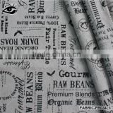 Vintage canvas textile cotton Letter Printed Canvas Fabric Linen&Cotton Fabric Household DIY Patchwork Textile cloth