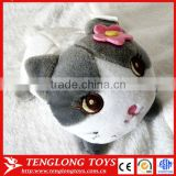 2015 New design lovely cute soft cat plush toy phone holder