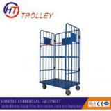 High quality foldable wire mesh roll container/cage trolleys logistic cargo trolley