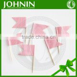 Hot Sale 2017 Eco-friendly Decorative Birthday Flag Toothpick