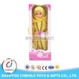 Hot sale 3 mixed color silicone soft reborn muslim 18 inch vinyl doll kits