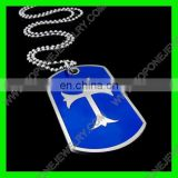 2014 Latest Design blue color cross dog tag 2014 new coming products fashion jewelry China Best Steel Jewelry Manufacturer