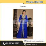 Royal Blue Fancy Ladies Long Kaftan for Festivals and Party Wear