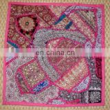 Silk and patchwork Cushion Cover Wholesaler