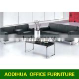 New Design Modern Office Sofa/ office sofa with steel base /leather sofa set AD-835