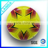 custom official size5 PVC leather machine stitched kid toy soccer ball