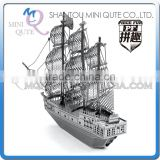 Piece Fun 3D Metal Puzzle Vehicle Black Pearl ship Adult intelligent DIY model educational toys gift NO GLUE NEEDED NO.PF 9207