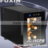 FUXIN:JC-16CFW.Table Top Fridge with 16Bottles/ Cave a vin/ Thermoelectric Mini Bar.