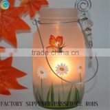 popular decal butterfly grass images glass mason jars for candle hanging laterns wholesale                                                                         Quality Choice