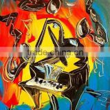 Newly Desiged Best Price Good Quality Abstract Canvas Piano Oil Painting for Bar Decoration