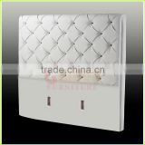 modern white leather hotel bed headboard
