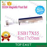 customizable SS304 SS316 stainless steel magnetic float ball use for level switch ESB17x55