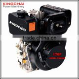 KINGCHAI Power Machinery Air Cooled Diesel Engine 170F, 4 hp Low Fuel Consumption Diesel Engine Good Price