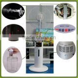 portable evaporative air cooler mist spray stand fan
