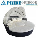 Home Furniture Cheap Round Bamboo Garden Sofa Daybed Rattan Daybed With Canopy Outdoor Daybed                                                                         Quality Choice