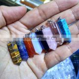 JF6913 Cheap chakra healing crystal pendants,hexagonal pendants                                                                         Quality Choice