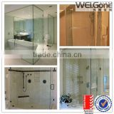 factory high quality bathroom glass partition for sale