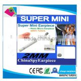 Super Mini Earpiece Wireless In-Ear maget Earpeice micro headphone with Necklooop Sticker