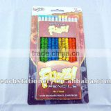 7'' drawing fuzzy color pencil gift pencil with color eraser for kids and students