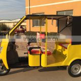 Newest electric auto passenger taxi tricycle with car style