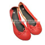 Ballerina Roll up shoe for wedding gift, foldable ladies driver shoes