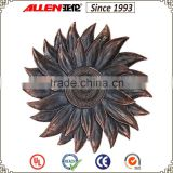 "20.6"" red bronze finish resin sunflower wall plaques, sunflower sculpture for wall"