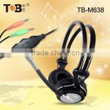 2014 Hot selling headset computer headphone & earhpone with detachable cable,commonly used accessories headphone