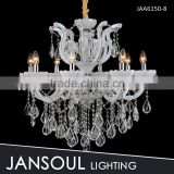 Guangdong 8 bulbs white crystal chandelier light