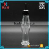 2016 best price slim unique shape 65ml glass essential oil bottle with new design black dropper                                                                                                         Supplier's Choice