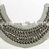 Mental beads collar,chains neckline,mesh trims ,Newest women beaded necking collar /trims