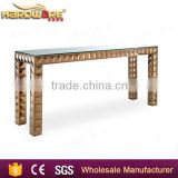 cheap wedding table overlay,tables for wedding,wholesale golden wedding cake table