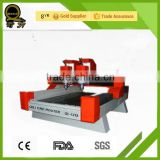 mini manual milling 3d QL-1218 bridge saw can cut hard stone engraving machine/3d cnc stone sculpture machine