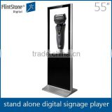 55 inch floor standing electronic gadgets for advertisement, floor stand digitaltotem screen, indoor LCD large screen display