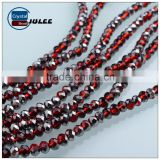Hot selling Electroplating rondelle beads Lampwork Jewelry crystal glass beads                                                                                                         Supplier's Choice