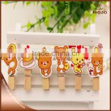 Cute bear shaped wooden clip wedding decoration                                                                         Quality Choice