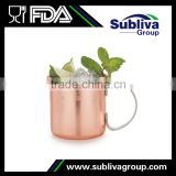 Stainless Lined Antique Brass And Copper Mugs Mini, Manufacturers india Copper Moscow Mule Mug For Cocktails                                                                         Quality Choice